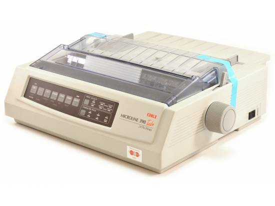 Okidata Microline 390 Turbo Parallel USB Printer - Factory Refurbished (62411901)
