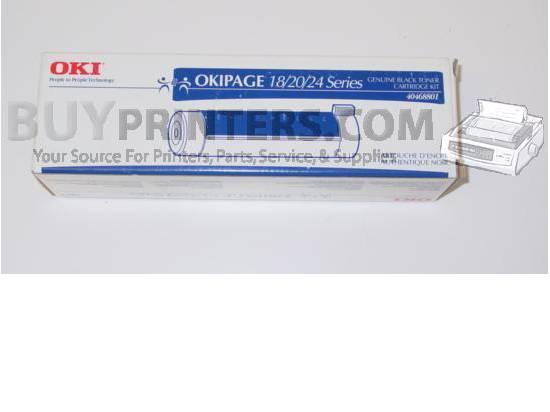 Okidata 40468801 for Okipage 18/20/24 Series Black Toner Genuine OKI