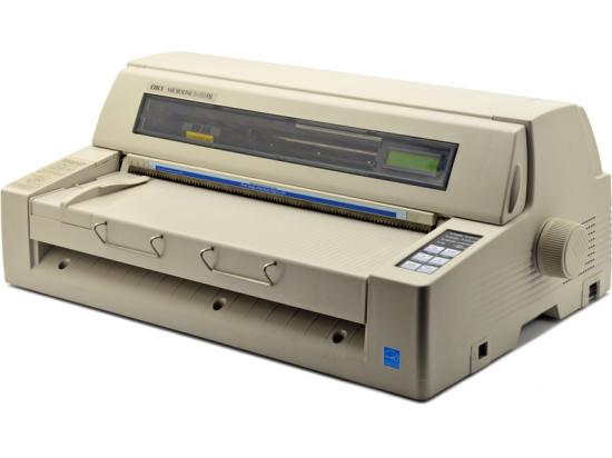Okidata Microline 8480FB Parallel USB Flatbed Finance and Insurance Printer (D21105A)