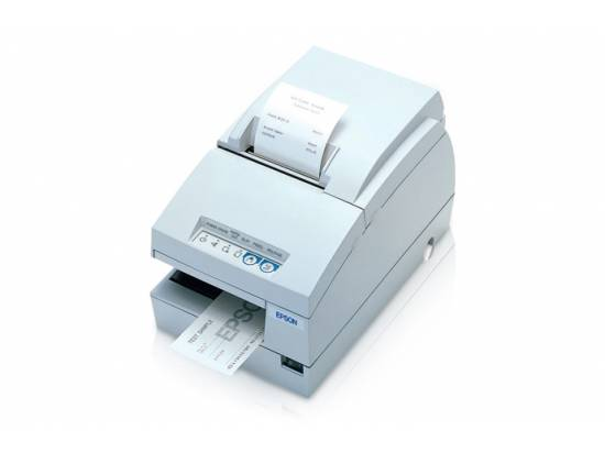 Epson TM-U675 Parallel Multifunction Printer w/ MICR (M146A)  - White
