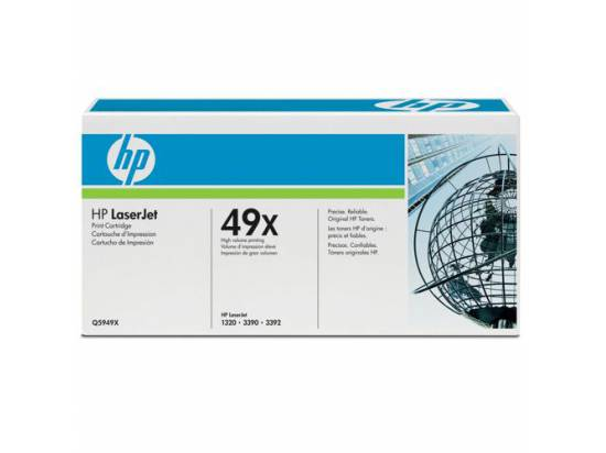 HP OEM 49x Black Toner Cartridge (Q5949X)