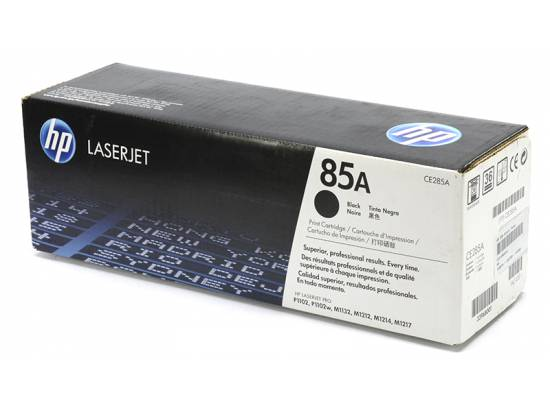 HP OEM 85A Black Toner Cartridge (CE285A)